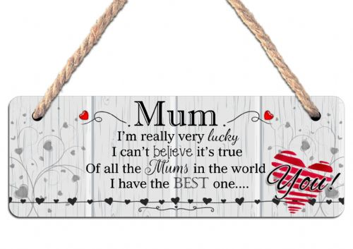MUM Hanging Sign N20 Wall or Door Plaque